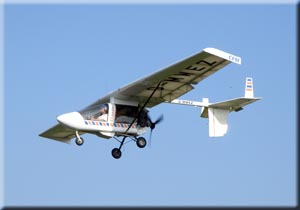 A fixed-wing microlight